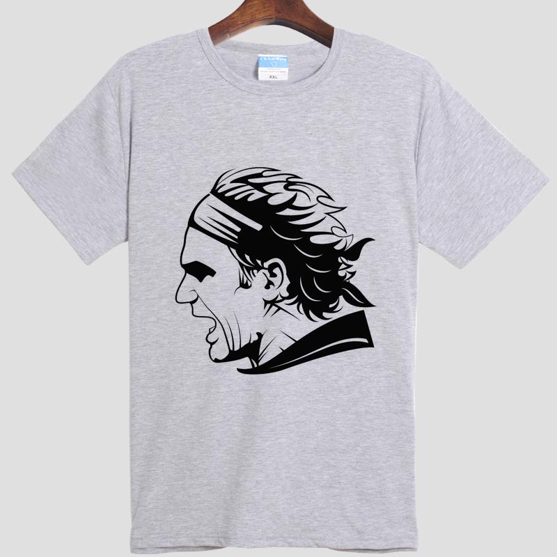 tennis Roger watch Federer Roger federer DIY men's short sleeve T-shirt cotton Round collar(China (Mainland))