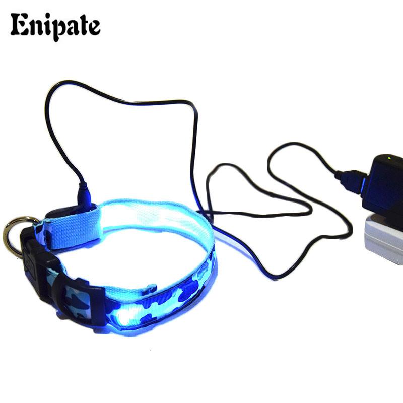 Pet Dog LED Flashing Glow light pet USB Collar Rechargeable Led Adjustable Luminous Necklace Glow pet collar collar luminoso per(China (Mainland))