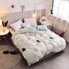 2019 New Pastoral Flower Print Bedding Set 1pc Close Skin Cotton Duvet Cover 150*200cm/180*220cm/200*230cm/220*240cm Quilt Cover(China)
