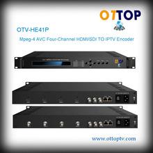 OTV-HE41P Mpeg-4 AVC Four-channel HDMI/SDI TO IPTV Encoder