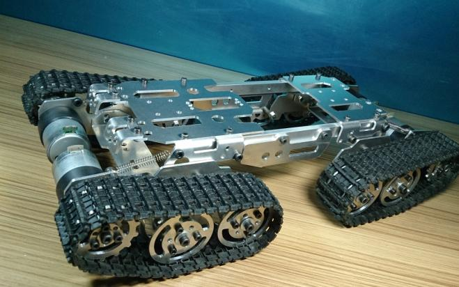 Alloy Tank Chassis Tractor Crawler Intelligent Robot Car Obstacle Avoidance barrowland diy rc toy remote control(China (Mainland))