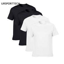 Купить два получить два хлопок мужские футболки классические 2017 короткий рукав o-образный вырез Футболка сплошной цвет летние свободные ба...(China)