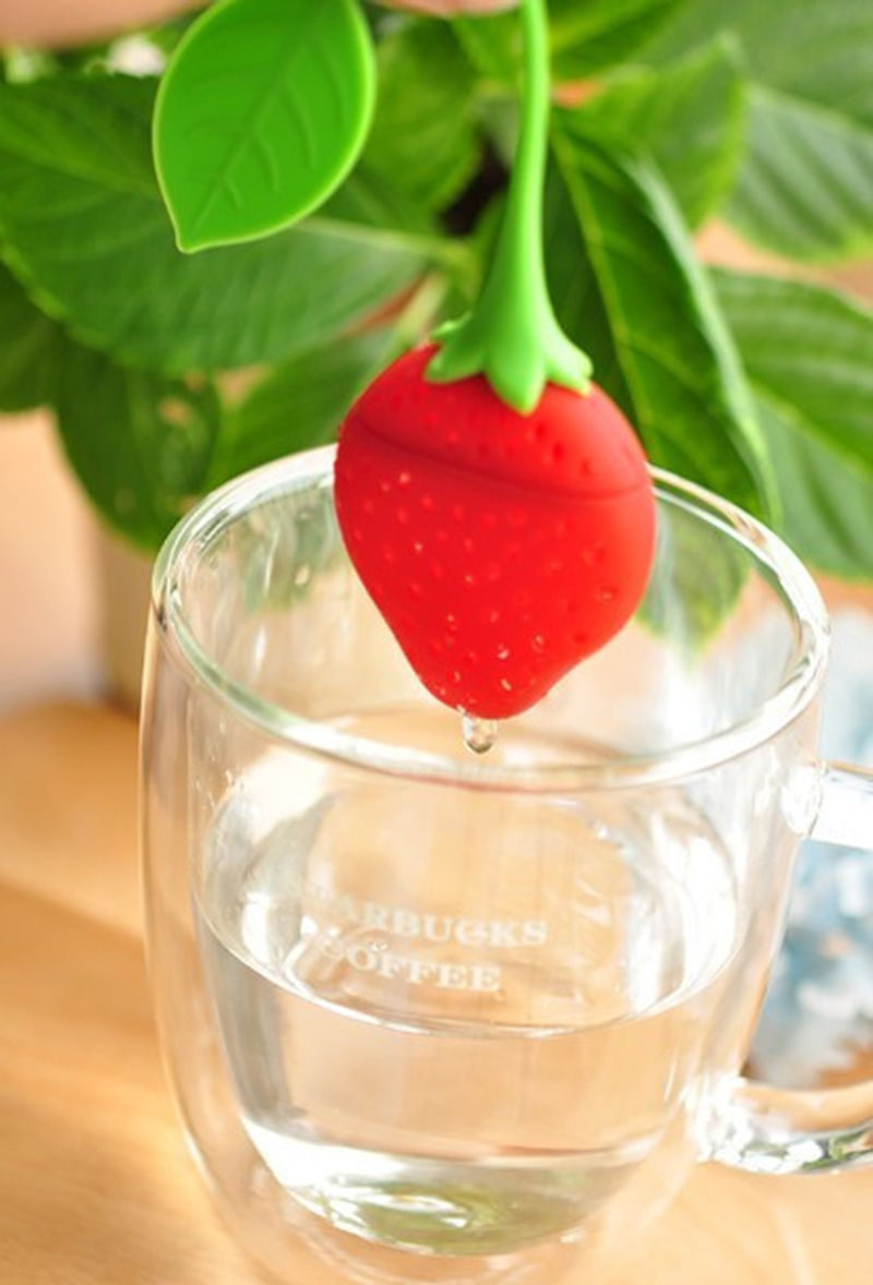 1pcs Silicon Sliced fill programming Tea Leaf Strainer Herbal Spice Infuser Filter(China (Mainland))