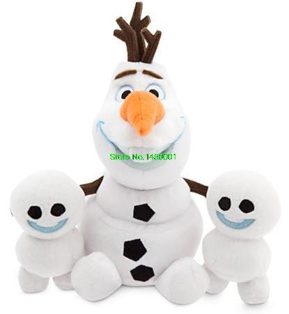 FEVER doll Anna Elsa Olaf Plush Toys Stuffed Cotton Snowman Olaf Toys Dolls for girls Cartoon Movie Snowgies Plush Bundle(China (Mainland))