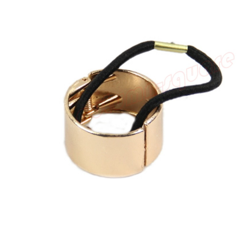 Womens Hair Band Metal Hair Cuff Circle Wrap Tail Holder Ring Rope-J117(China (Mainland))