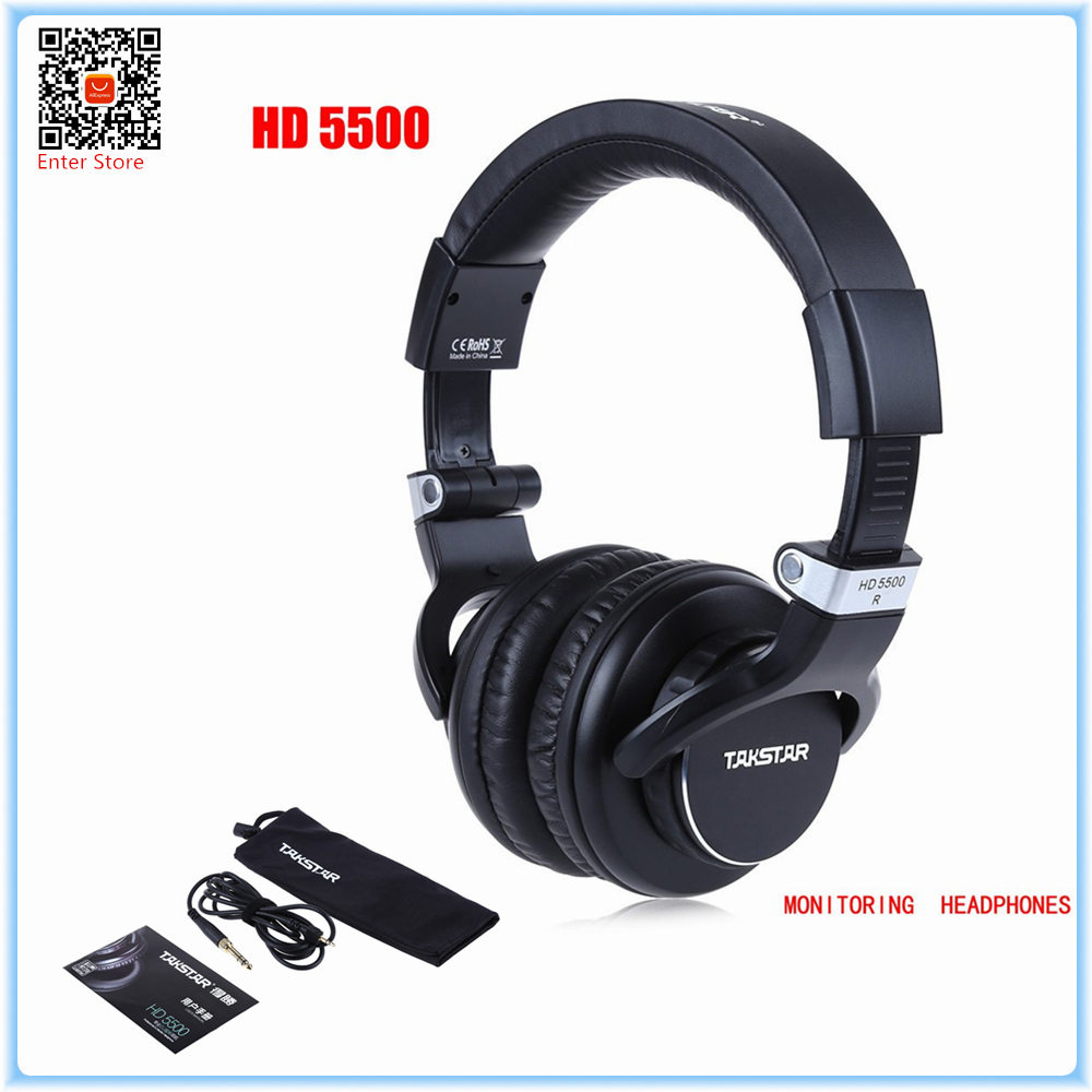 Monitor Studio Headphones Takstar HD5500 Dynamic 1000mW Powerful HD Over Ear Earphone Noise Cancelling Pro DJ Headset auriculars(China (Mainland))