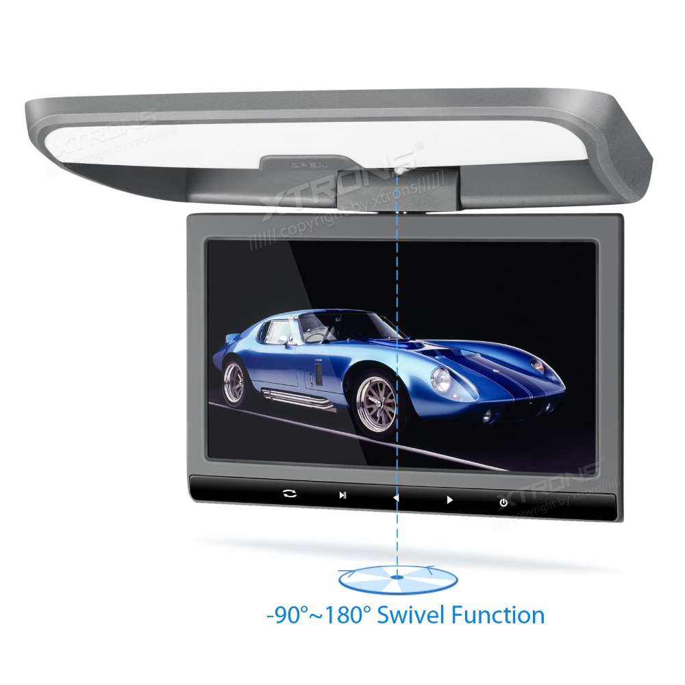 """10.1"""" Gray Color Sleek Touch-Panel Design Flip Down Car DVD Car Roof DVD Roof Monitor Car DVD with 2 IR/FM Headphones(China (Mainland))"""