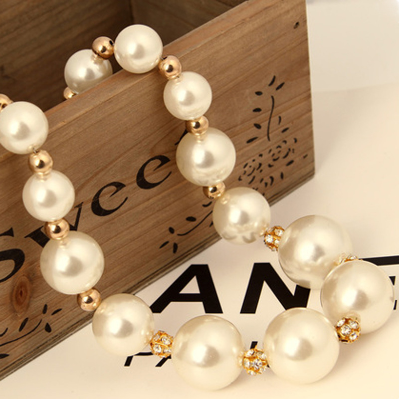 ! 2014 New Fashion Western statement European Style elegant Big Pearls Party choker pendant Chain necklace jewelry - Lenny Wang's store