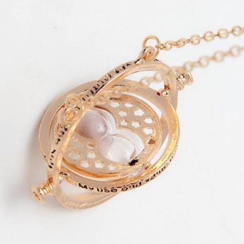Гаджет  Harry Potter Hermione Granger Rotating Time Turner Necklace Hourglass Horcrux None Ювелирные изделия и часы