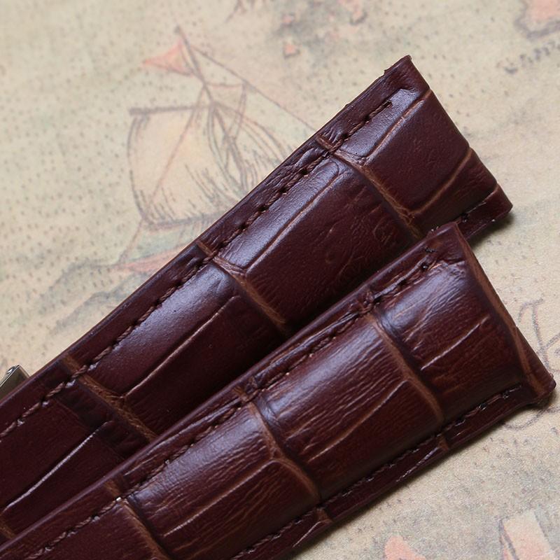 20 мм 22 мм Высокое качество Ремешок для часов класса люкс мужские часы Браун Натуральной Кожи ремешки браслет модные аксессуары