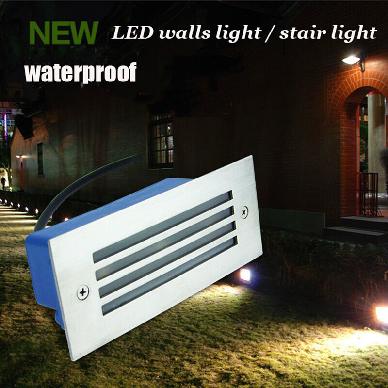 led wall light outdoor waterproof IP65 3W Steel Mesh LED Light Pathway Path Step Stair Wall Garden Yard Lamp,free shipping(China (Mainland))