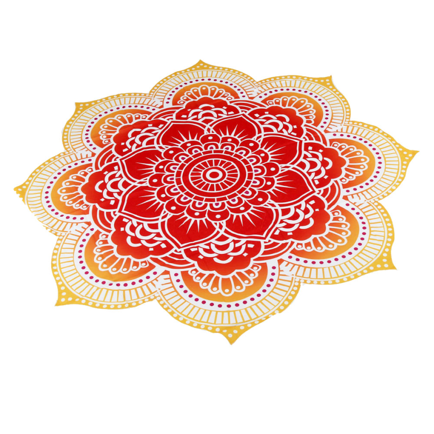 Creative Four Colors Cool Summer Round Round Beach Pool Home Shower Towel Blanket Table Cloth Yoga Mat Happy Gifts High Quality(China (Mainland))