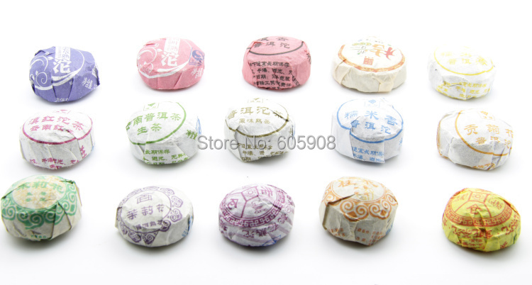 Гаджет  15 kinds 15 pcs Different Flavor Yunnan Mini Tuo  Puer Pu