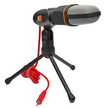 High Quality Wired Stereo Condenser Microphone with Holder Clip for Chatting Singing Karaoke PC Laptop SF-666