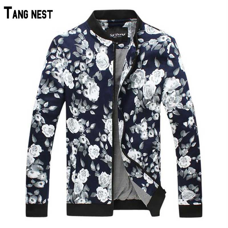 Men Jacket 2015 New Arrival Mens Fashion Floral Print Jacket Male Casual Plus Size Coat M-5XL MWJ737Одежда и ак�е��уары<br><br><br>Aliexpress