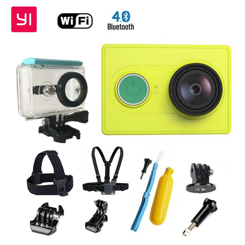 Xiaomi Yi Спорт Камера Набор XiaoYi Водонепроницаемая Камера Шлем   ремень 1080 P 60fps 16MP Wifi Xiaomi Спорт Cam Yi Действий камера
