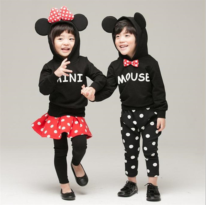 boys girls clothing sets ensemble fille conjunto mickey vetement garcon girls halloween outfits hello kitty tracksuits minnie(China (Mainland))