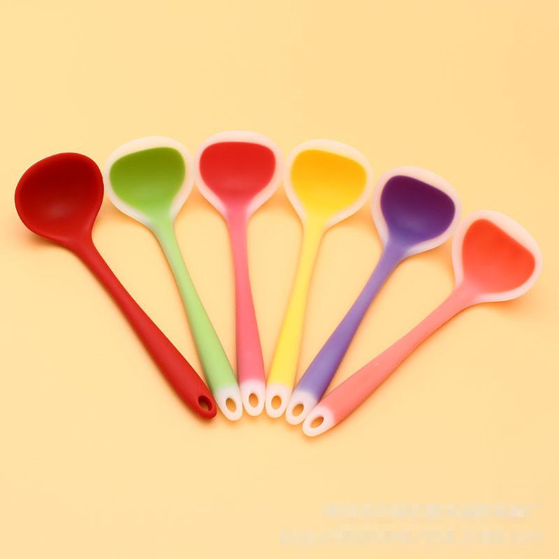 FDA food grade silica gel Prismy big soup spoon 1pcs(China (Mainland))