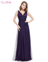 [Clearance Sale] Sexy Evening Dresses 2017 Ever Pretty HE08532 Long V Neck Navy Blue Gowns Formal Evening Party Ladies Dresses(China)
