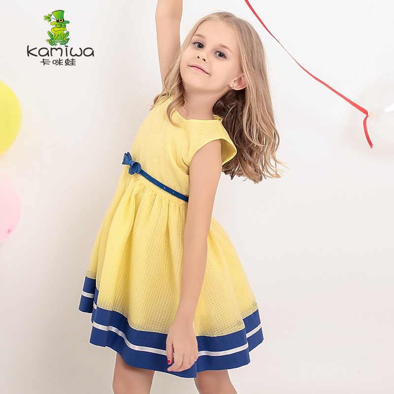 Summer children wedding dress baby girls dresses kids striped bow