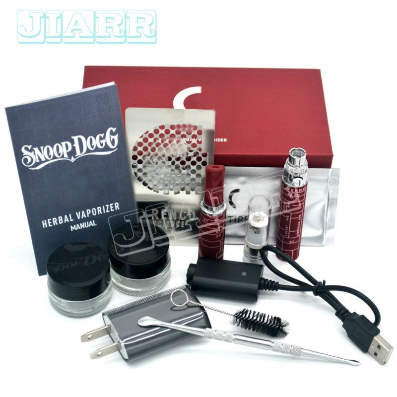 Hot sale cheap electronic cigarette kit snoop dogg dry Herb herbal vape wax g vaporizer pen blister gift box case e-cigarette(China (Mainland))