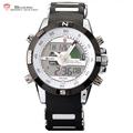 Porbeagle SHARK Sport Watch Dual Time Date Day Alarm Silicone Band Digital White Quartz Wrap Military