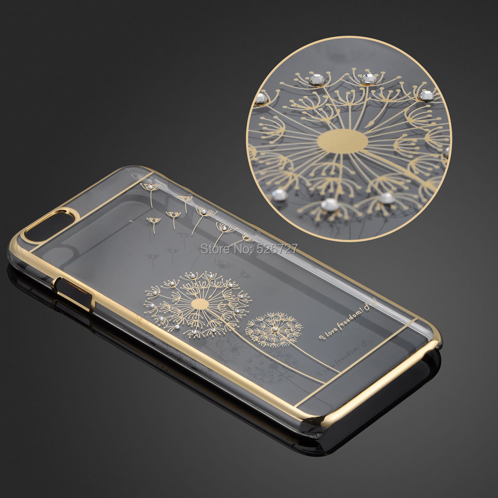 Ultra Slim Luxury Crystal Diamond Bling Transparent Electroplate Back Case Cover Apple iPhone 6 Plus 6s Phone Bag - Magic Box's store