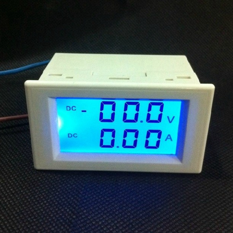Electrical Distribution Panel With Meter : Digital dc ammeter voltmeter volt voltage panel meter amp