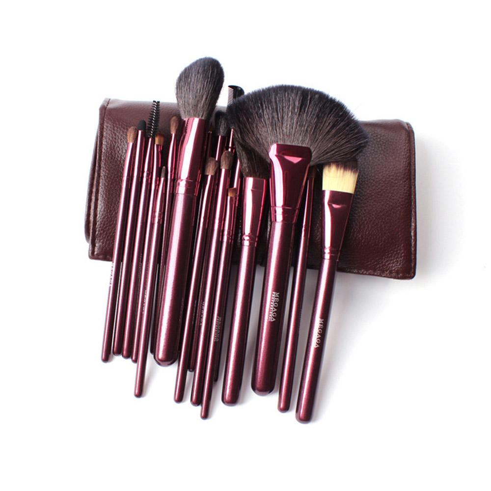 18PCS Makeup Brushes Set Professional Natural Hair Make up Brush Set Tools Cosmetics Kits Pincel Maleta De Maquiagem 4 Colors