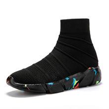 MWY Ademend Enkellaars Vrouwen Sokken Schoenen Vrouwelijke Sneakers Casual Elasticiteit Wedge Platform Schoenen zapatillas Mujer Zachte Zool(China)