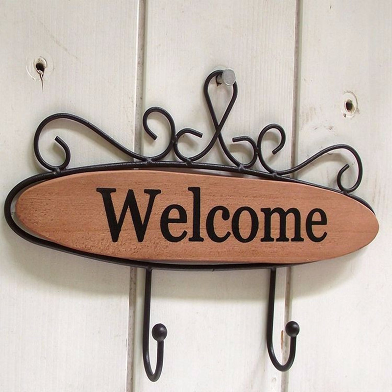 creative wall hanging hook with welcome letter 1pcschina mainland
