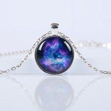 Vienkim 2019 New Fashion Galaxy Necklaces Nebula Space Glass Cabochon Pendants Brand Jewelry for Women Men Best Friend Ship Gift(China)