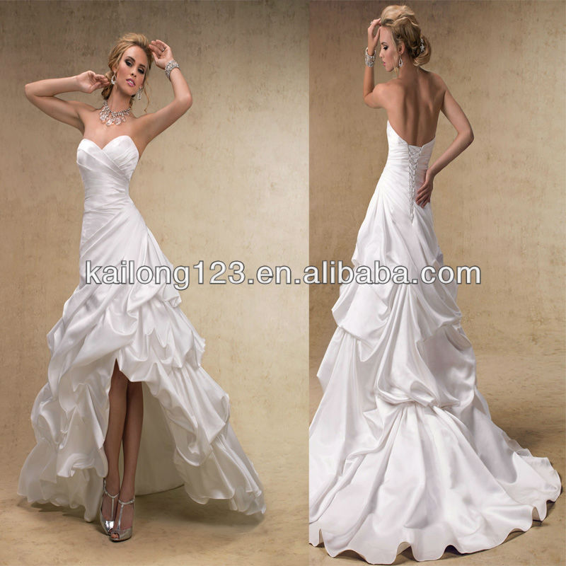 Stunning sweetheart a line corset lace up back pick up for Pick up skirt wedding dresses