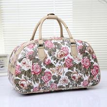 2016 Fashion Leather Luggage Travel Bag Women Printed Travel Duffle Bag Patttern Large Capacity Travel bag 55cm Sac De Voyage(China (Mainland))