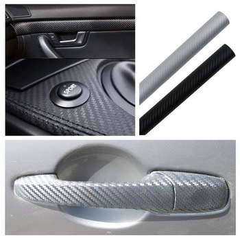Car Styling 127cmx30cm Auto motorcycle 3D Carbon Fiber Vinyl Film Wrap Sheet Roll Film car stickers and decals car accessories