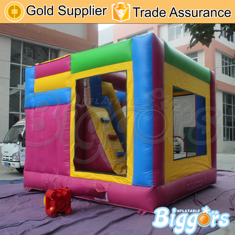 YARD Inflatable Toys Bouncy Castle with Slide Kids Jumping House Commercial 0.55MM PVC Trampoline(China (Mainland))