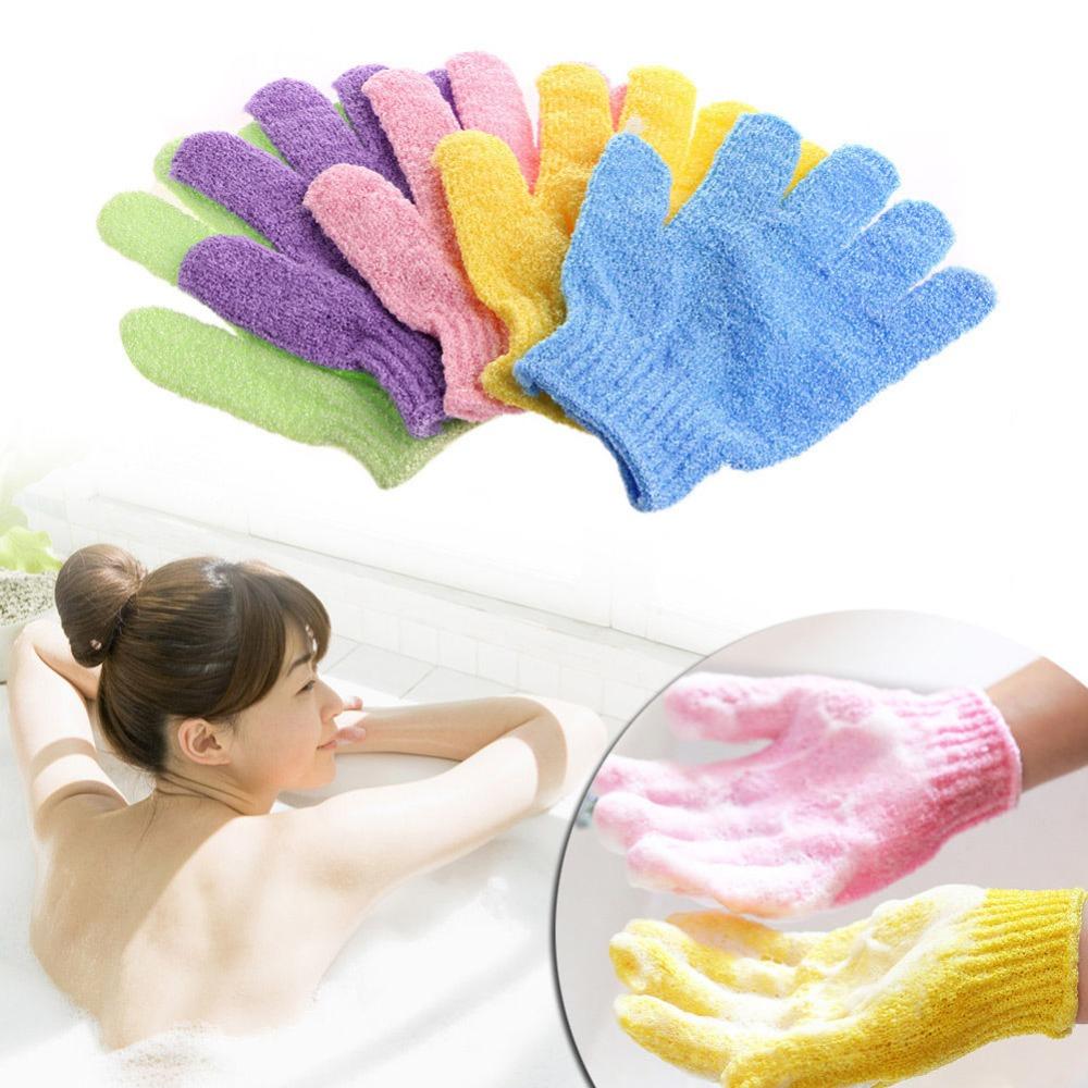 1Pc Shower Bath Glove Exfoliating Wash Skin Spa Massage Body Back Scrub Scrubber