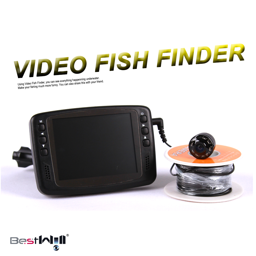 720P 1MP 8 IR LED HD 1000TVL 3.5'' Color LCD Monitor Underwater Ice Video Fishing Camera System 15m/30m Cable Visual Fish Finder(China (Mainland))