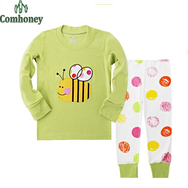 Honeybee Pijama Bebe Pajamas For Kids Children's Pajamas Spring Kids Sleepwear Pajamas For Boys Girls Sleepwear Animal Pyjama(China (Mainland))