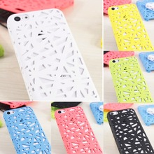 Hot 3D Building Hollow Bird Nest Slim Rubberized Hard Plastic Funda Capa Mobile Phone Cases Cover For iPhone 5C(China (Mainland))