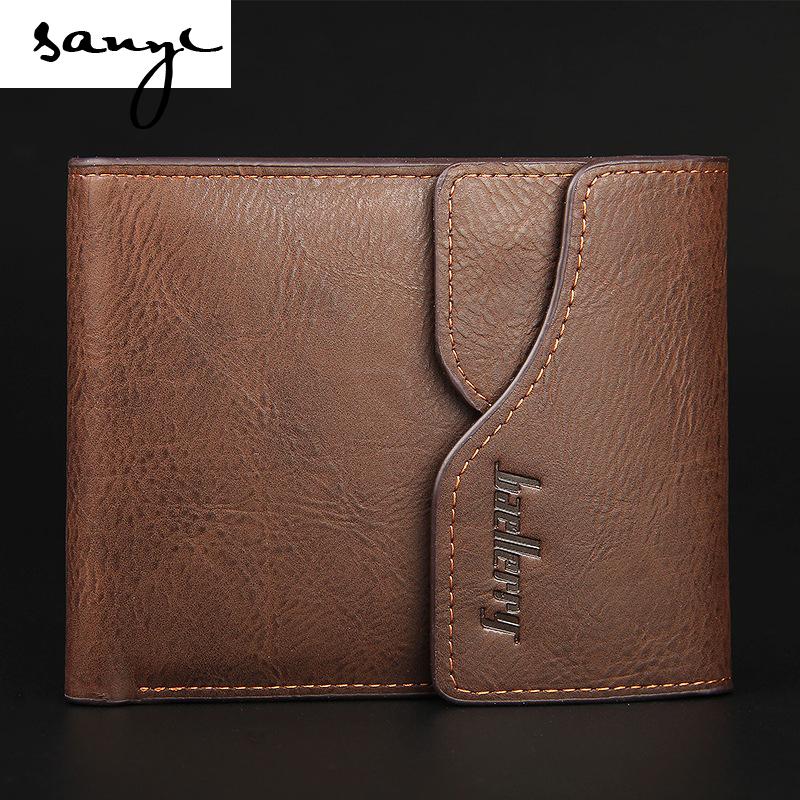 The New Leisure Man Retro Fashion Velcro Wallet Purse Cross Multifunctional Wallet(China (Mainland))