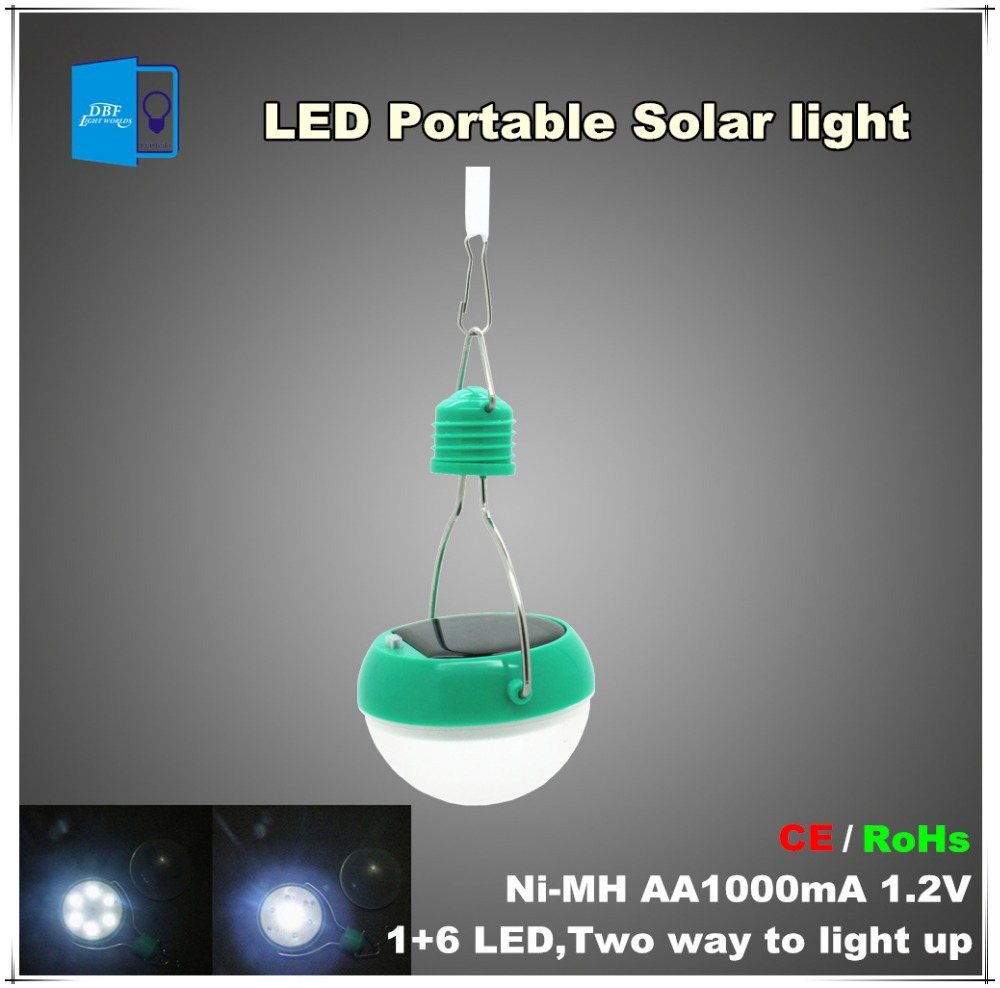 [DBF] IP65 1+6 LED Solar light Lamp portable to use Outdoor for Emergency Waterproof rainproof , for garden and reading(China (Mainland))