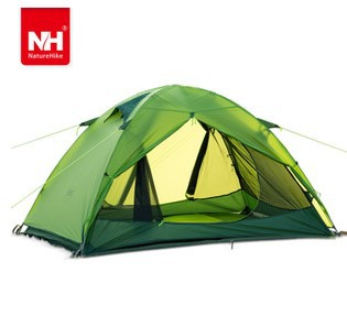 NH Ultralight 2 Persons 2KG Hiking Camping Tent Double Layer Windproof Waterproof 20D Tent