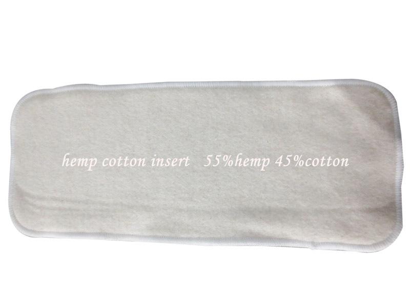 2015 hot sale!4 Layer(2+2) Organic Hemp Cotton Insert baby Cloth Diaper nappy, 55% hemp, 45% orgac1 - Gogreen2014 store