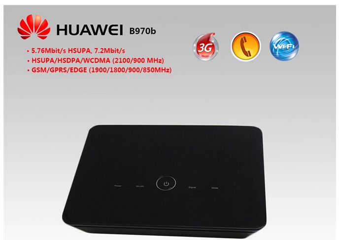 Free Shipping Original 3G wireless Huawei Router B970 unlocked HSDPA WIFI Router,3g smart home gateway(China (Mainland))