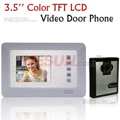 Home CCTV 3.5 Inch Color TFT LCD Video Doorphone Door Bell Intercom Video System ( INS-DP55 )