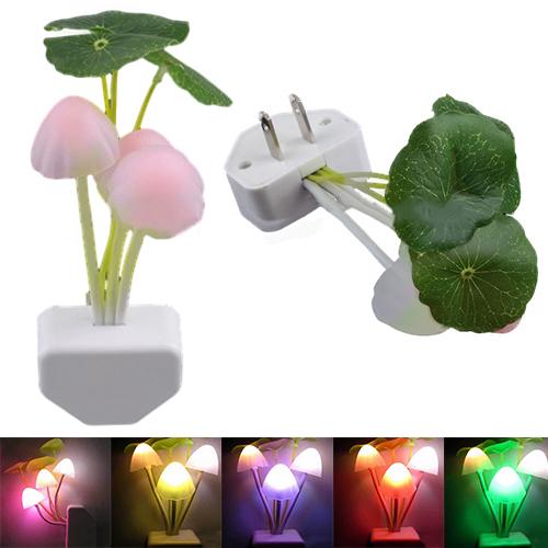 New Designed New Colorful Romantic LED Mushroom Dream Night Light Bed Lamp Sale 6E4I(China (Mainland))