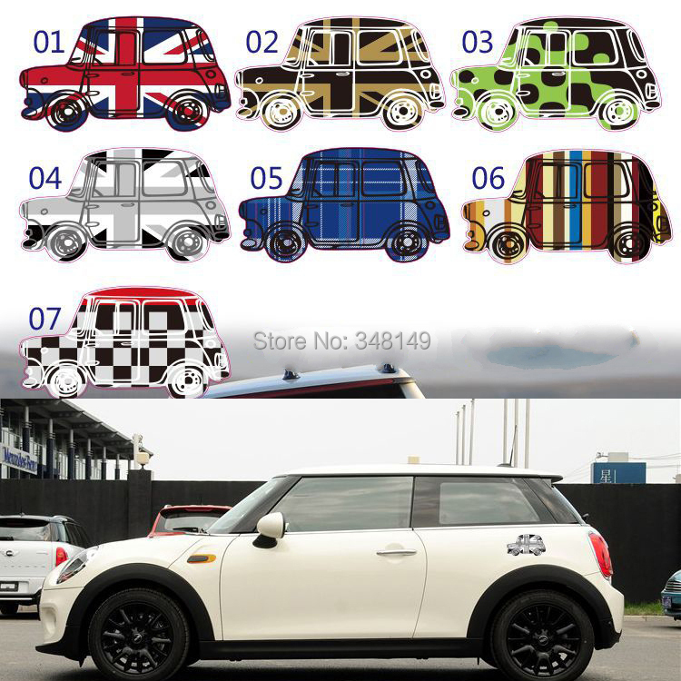 car styling scratch stickers and decals for mini cooper accessories countryman r50 r52 r53 r55. Black Bedroom Furniture Sets. Home Design Ideas