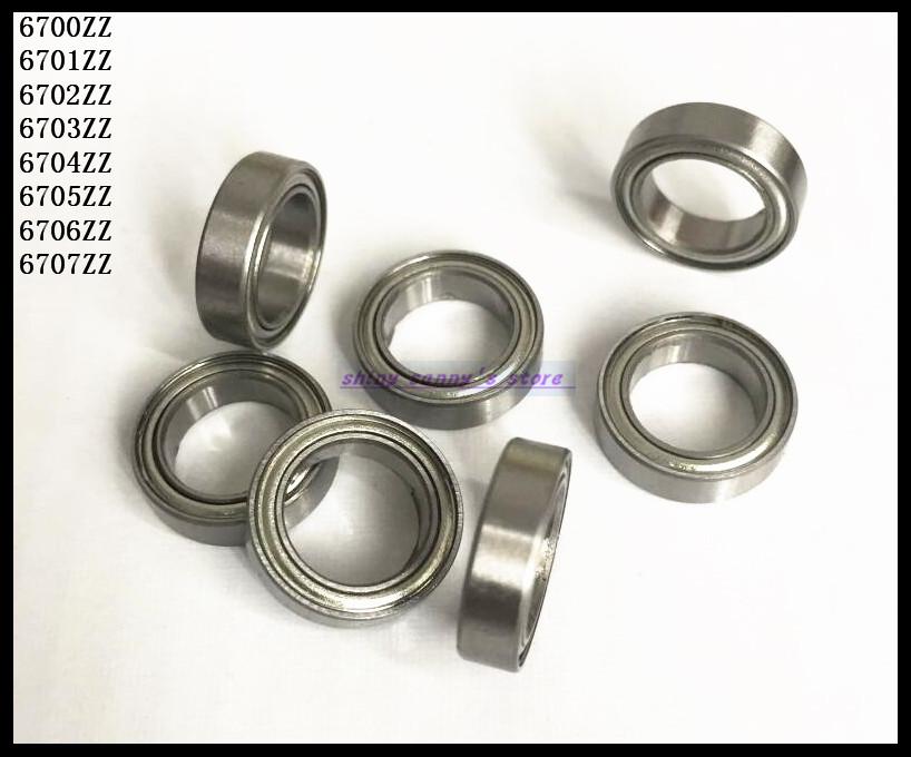 10pcs/Lot 6703ZZ 6703 ZZ 17x23x4mm Thin Wall Deep Groove Ball Bearing Mini Ball Bearing Miniature Bearing Brand New
