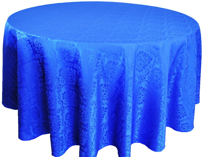 Round Damask Jacquard Polyester Tablecloths Round lace Tablecloths Table Overlays For Weddings Decoration For Tables Party(China (Mainland))
